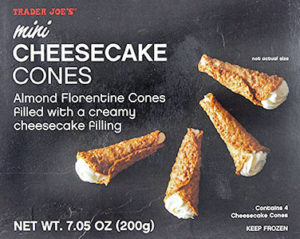 Trader Joe's Mini Cheesecake Cones