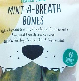 Trader Joe's Mint-A-Breath Bones