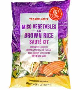 Trader Joe's Miso Vegetables and Brown Rice Sauté Kit