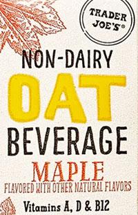 Trader Joe's Non-Dairy Maple Oat Milk Beverage