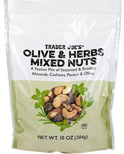 Trader Joe's Olive & Herbs Mixed Nuts