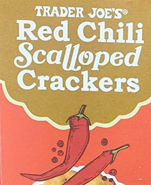 Trader Joe's Red Chili Scalloped Crackers