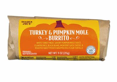 Trader Joe's Turkey & Pumpkin Mole Burrito Reviews