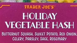 Trader Joe's Holiday Vegetable Hash