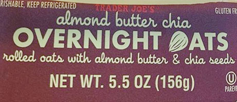 Trader Joe's Almond Butter Chia Overnight Oats