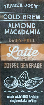 Trader Joe's Dairy-Free Cold Brew Almond Macadamia Latte Coffee Beverage