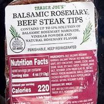 Trader Joe's Balsamic Rosemary Beef Steak Tips
