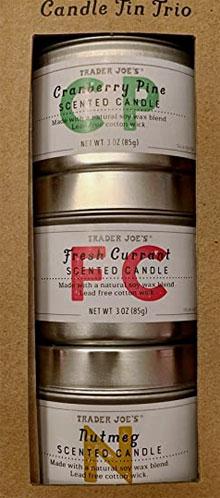 Trader Joe's Candle Tin Trio