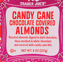 Trader Joe's Candy Cane Chocolate-Covered Almonds
