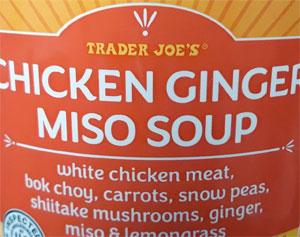 Trader Joe's Chicken Ginger Miso Soup
