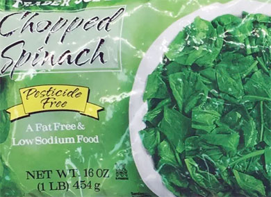 Trader Joe's Frozen Chopped Spinach