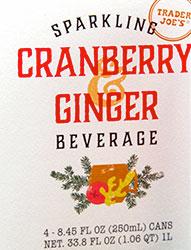 Trader Joe's Sparkling Cranberry Ginger Beverage