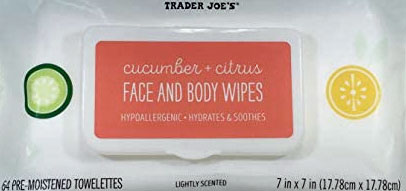 Trader Joe's Cucumber and Citrus Face and Body Wipes