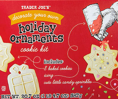 Trader Joe's Decorate Your Own Holiday Ornaments Cookie Kit