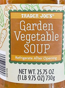 Trader Joe's Garden Vegetable Soup