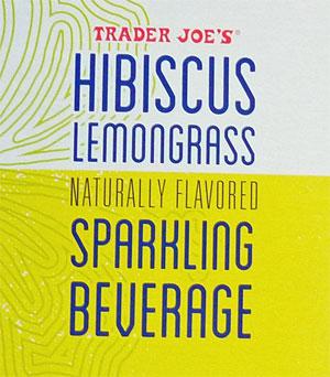 Trader Joe's Hibiscus Lemongrass Sparkling Beverage
