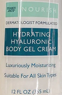 Trader Joe's Hydrating Hyaluronic Body Gel Cream
