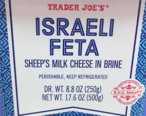 Trader Joe's Israeli Feta