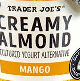 Trader Joe's Creamy Almond Mango Cultured Yogurt Alternative
