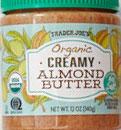 Trader Joe's Organic Creamy Unsalted Almond Butter