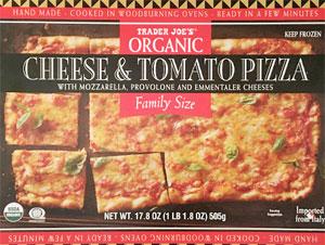Trader Joe's Organic Family Size Cheese & Tomato Pizza