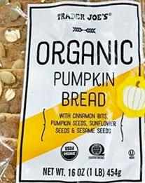 Trader Joe's Organic Pumpkin Bread
