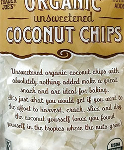 Trader Joe's Organic Unsweetened Coconut Chips