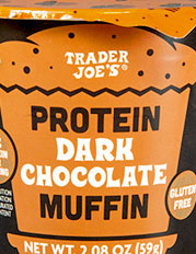 Trader Joe's Protein Dark Chocolate Muffin