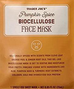 Trader Joe's Pumpkin Spice Biocellulose Face Mask
