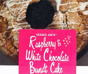 Trader Joe's Raspberry & White Chocolate Bundt Cake