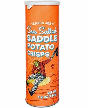 Trader Joe's Sea Salted Saddle Potato Crisps Chips Reviews