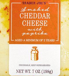 Trader Joe's Smoked Cheddar Cheese With Paprika