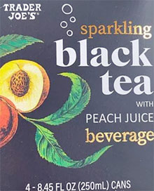 Trader Joe's Sparkling Black Tea with Peach Juice Beverage