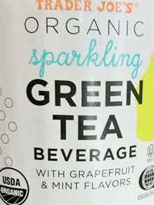 Trader Joe's Organic Sparkling Green Tea