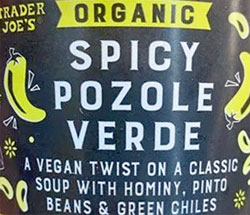 Trader Joe's Organic Spicy Pozole Verde