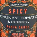 Trader Joe's Spicy Chunky Tomato & Pepper Pasta Sauce