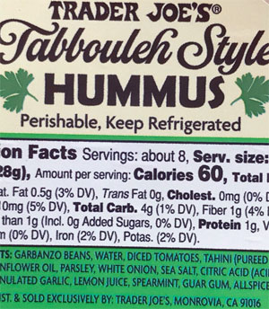 Trader Joe's Tabbouleh Style Hummus