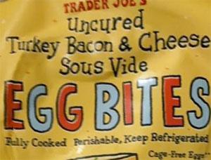 Trader Joe's Uncured Turkey Bacon & Cheddar Sous Vide Egg Bites