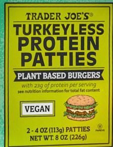 Trader Joe's Turkeyless Protein Patties