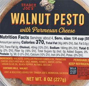 Trader Joe's Walnut Pesto