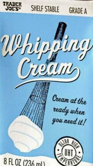 Trader Joe's Whipping Cream