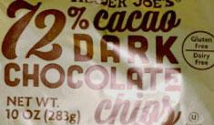 Trader Joe's 72% Cacao Dark Chocolate Chips