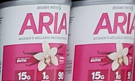 Aria Women's Wellness Vanilla Protein Powder