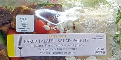 Trader Joe's Baked Falafel Salad Palette