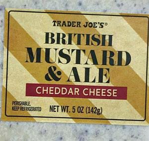 Trader Joe's British Mustard & Ale Cheddar Cheese
