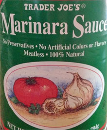 Trader Joe's Canned Marinara Sauce