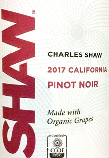 Charles Shaw California Pinot Noir