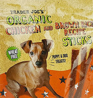 Trader Joe's Organic Chicken & Brown Rice Recipe Sticks Dog Treats
