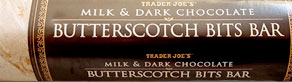 Trader Joe's Milk & Dark Chocolate Butterscotch Bits Bar