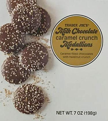 Trader Joe's Milk Chocolate Caramel Crunch Medallions